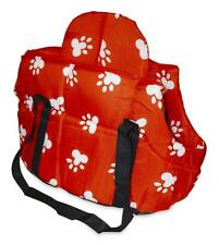 NEW PET CARRIER DOG CAT SMALL CRATE TOTE ANIMAL BAG PURSE RED  PAW KENNEL CAGE