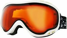 DIRTY DOG BUG 54053 ADULT SNOW GOGGLES WHITE - PERSIMMON * EX DISPLAY
