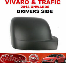 DRIVERS SIDE VAUXHALL VIVARO VAN RENAULT TRAFIC BLACK WING MIRROR COVER CASING
