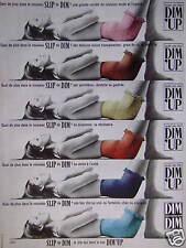 PUBLICITÉ SLIP DE DIM DIM'UP LE SLIP QUI TIENT LE BAS - ADVERTISING