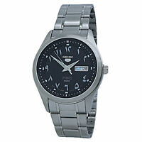 Seiko 5 Automatic Black Dial Stainless Steel Men's Watch SNKP21J1