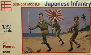 GLENCOE JAPANESE INFANTRY - 20 FIGURES FACTORY SEALED  1/32 SCALE