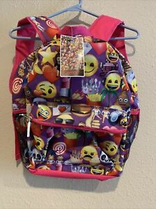 Emoji The Iconic Brand Pink Girls Cake Ice Cream Heart Eyes Emoji Backpack