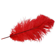 Red Dyed Long Ostrich Plume Feather Pirate/Steampunk/Fancy Victorian Hat Plumes
