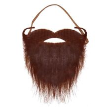 Brown / Ginger Halloween Pirate Elasticated Beard with Curly Moustache