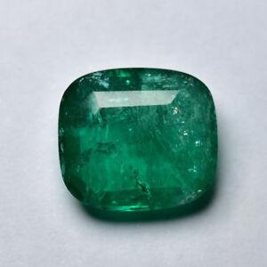 Emerald 8.52ct Cushion cut natural Emerald
