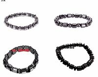 Weight Loss Bracelet Black Stone Bio Magnetic Therapy Health Care Noble UK