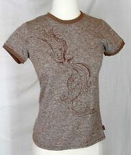 prAna short sleeve tee shirt tshirt top S M tech brown heather scroll New
