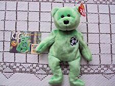 Ty Beanie Baby Kicks The Soccer Bear and Official Club Card Spelling Error Swing