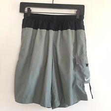 Nike Swim Shorts Cargo Green Color Block Men's Vintage Size M