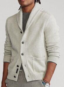 Polo Ralph Lauren Men's Soft Cotton Shawl Collar Cardigan - L
