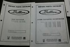 2 Brillion Repair Parts Catalog Manual S Tine Field Cultivator Incorporator