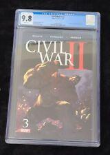 Civil War II #3 CGC 9.8 Death of Hulk 2 AVENGERS INCREDIBLE IMMORTAL SHE BENDIS
