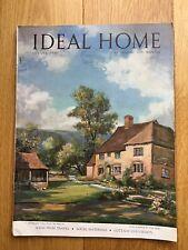 Vintage Ideal Home Magazine. August 1949. Rare Collectors Item