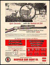 1964 Redfield Rifle Scope M-294 Model 94 Winchester 30-30 Vintage Print Ad