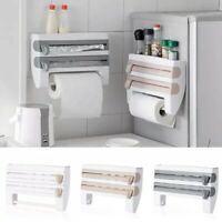 Cling Film and Kitchen Foil Dispenser Paper Towel Roll Holder Wall Mounted Rack