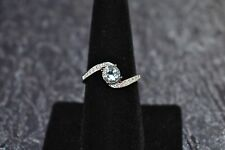 Sterling Silver Blue Topaz Ring by AVON Size 8
