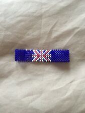 England flag bracelet made with beads unisex can put a name on upon order