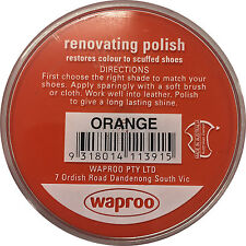 Waproo Renovating Shoe Polish Cream - over 20 Colors ( Over 1300 SOLD) AU SELLER