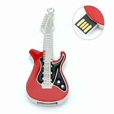 16GB Novelty Cute Musical Red Metal Guitar USB 2.0 Memory Stick Flash Drive