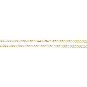 9ct Gold Flat Curb Chain Necklace (3mm / 18 inches / 5.30g)