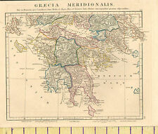 1841 MAP ~ GRAECIA MERIDIONALIS ~ MESSENIA PELOPONNESUS ACHAIA HAND COLOURED