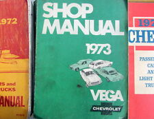 1973 CHEVROLET VEGA SHOP MANUEL ORIGINAL  EN ANGLAIS