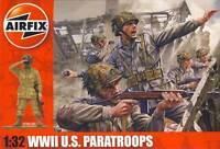 Airfix - 14 Soldaten US Paratroops Fallschirmjäger Diorama U.S. 1:32 NEU OVP kit
