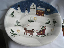 CAROL ENDRES PURE ART LARGE CHRISTMAS SERVING / DISPLAY BOWL - MINT