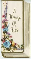 VINTAGE SPRING GARDEN FLOWERS A MESSAGE OF FAITH HOPE PEACE GREETING CARD PRINT