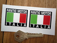 FANTIC MOTOR ITALIA Tricolore Style Stickers 50mm Pair Motorcycle Helmet Moped