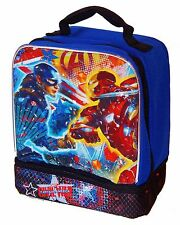Captain America & Iron Man Civil War Lead Safe Dual Chamber Insulated Lunch Box