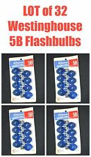 Vintage Lot of 4 Pkgs of Westinghouse 5B Blue Flash Bulbs 32 Total NeW AMaZinG!