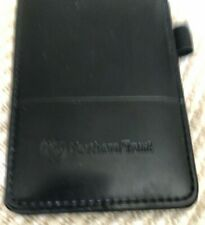 Northern Trust  Black Leather Note Pad Leeds Business Card Holder
