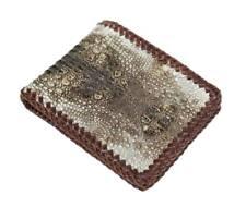Unique Genuine Alligator Crocodile Skin Leather Men's Bifold Wallet #2