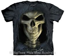 Death Face Grim Reaper Big Mens Plus Size T-Shirt - Label US 4XL (Fits AUST 6XL)