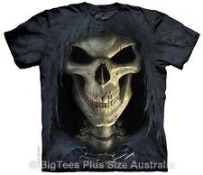 Death Face Grim Reaper Big Mens Plus Size T-Shirt - Label US 5XL (Fits AUST 9XL)