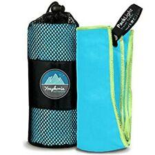 "Youphoria Outdoors Microfiber Fast Dry Travel Towel Green Blue 32"" x 72"" New"