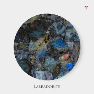 Labradorite Agate Table Top Counter Top Modern Decor Mystical Stone Healing