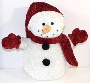 "fiesta 12"" snowy chenille snowman w/hat, scarf & mittens plush"