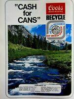"""1974 Coors Beer Regional Original Print Ad 8.5 x 11"""""""