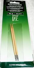 Clover Takumi Bamboo Interchangeable Circular Knitting Needles No. 6 - 4.0 mm