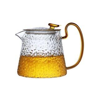 Gas Stove Safe Tea Maker Pot Borosilicate Glass teapot Japan Hammer Eye Pattern