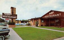 Lufkin Texas~Petty's Restaurant~Roadside Diner~1950-60s Cars~Corvair~Postcard