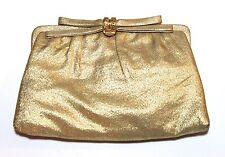 Vintage 50s 1950's After Five Gold Clutch Evening Bag Handbag w/Inner Coin Purse