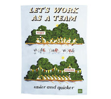 Lets Work As A Team Tea Towel ~ The Postal Archive Collection by Gift Republic