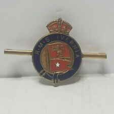 More details for cunard white star line rms ivernia enamel bar brooch badge