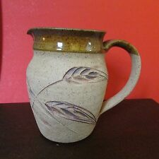 "Pottery Pitcher, 6"" Tall, Marked on bottom"