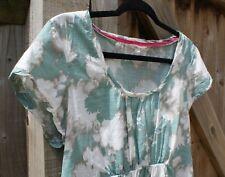 Lovely White Stuff Kingfisher Empire Waist Cotton Summer Top - Size 14 - VGC