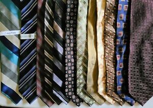 Lot of 12 All New with Tag Fratelli Beene JZ Richards Calvin Klein Mens Silk Tie